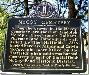 McCoy Cemetery marker