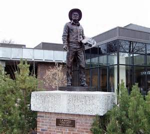 Charles M. Russell statue