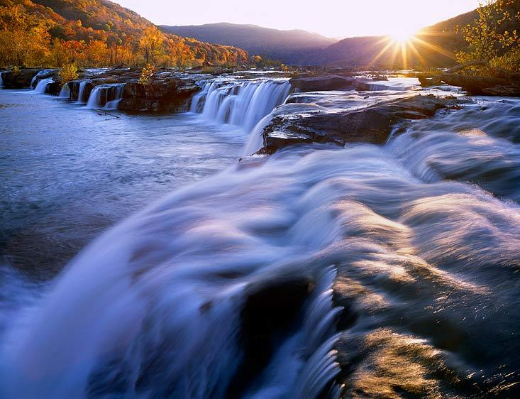 A beautiful view of Sandstone Falls.