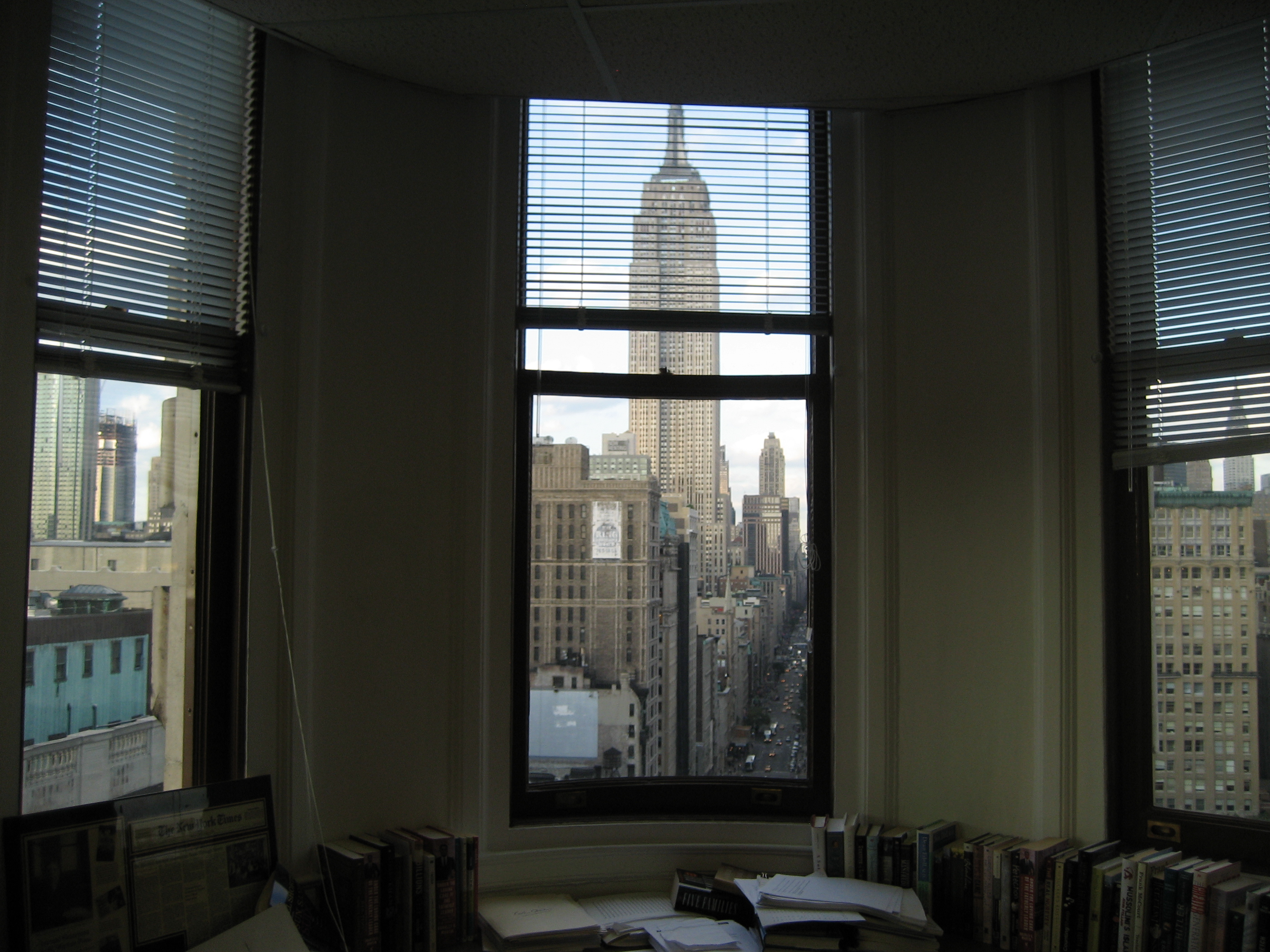 A view from one of the rooms in the building
