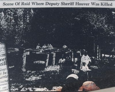 The scene of the raid where the deputy was killed.
