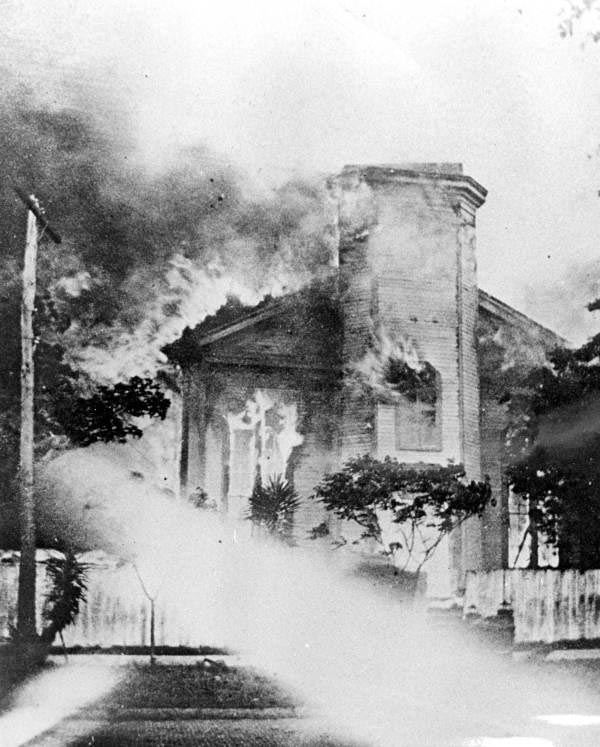 An image of the fire as it destroyed homes in Jacksonville.