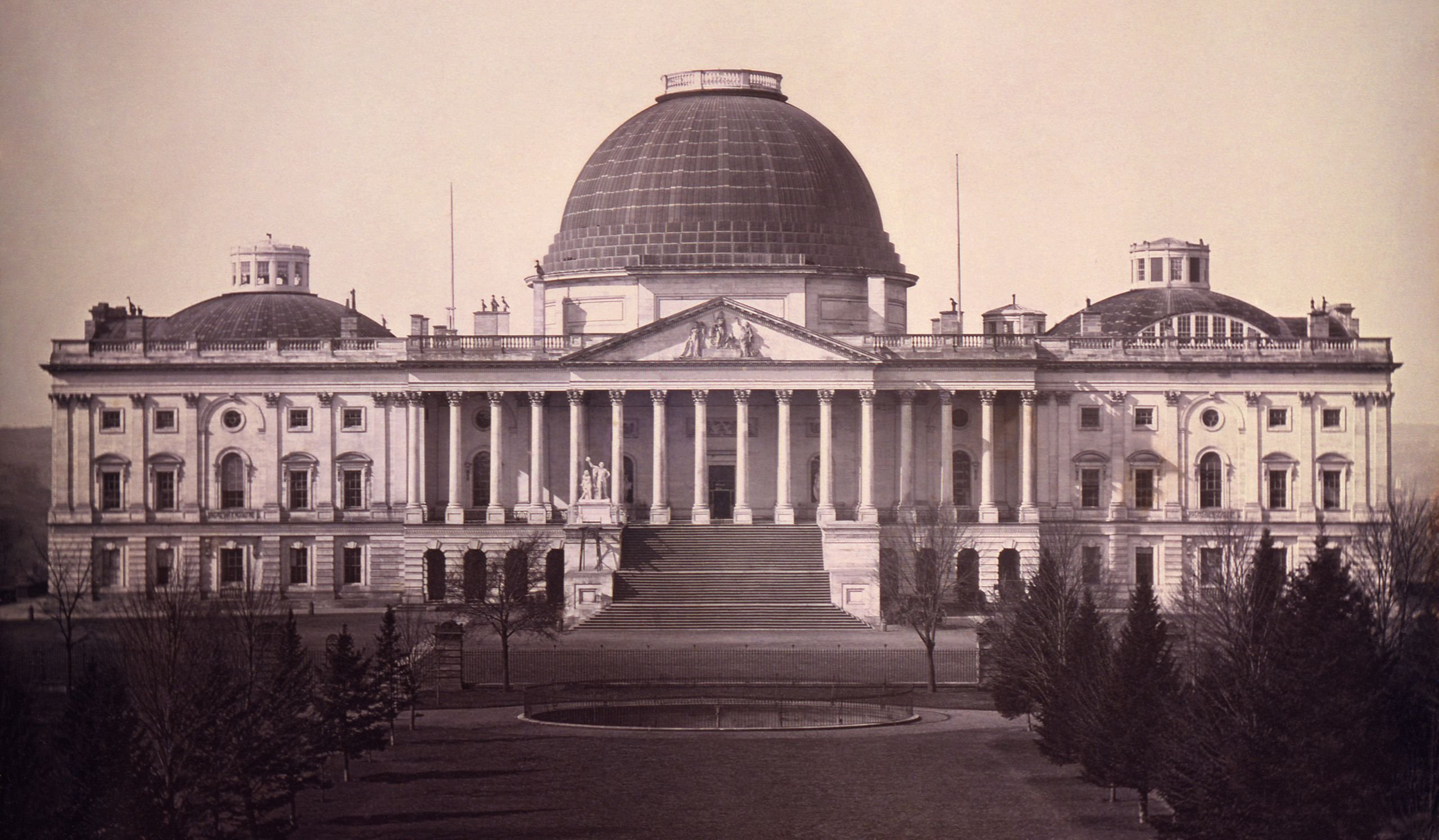 A daguerreotype photograph of the Capitol in 1846. Photo from Library of Congress.