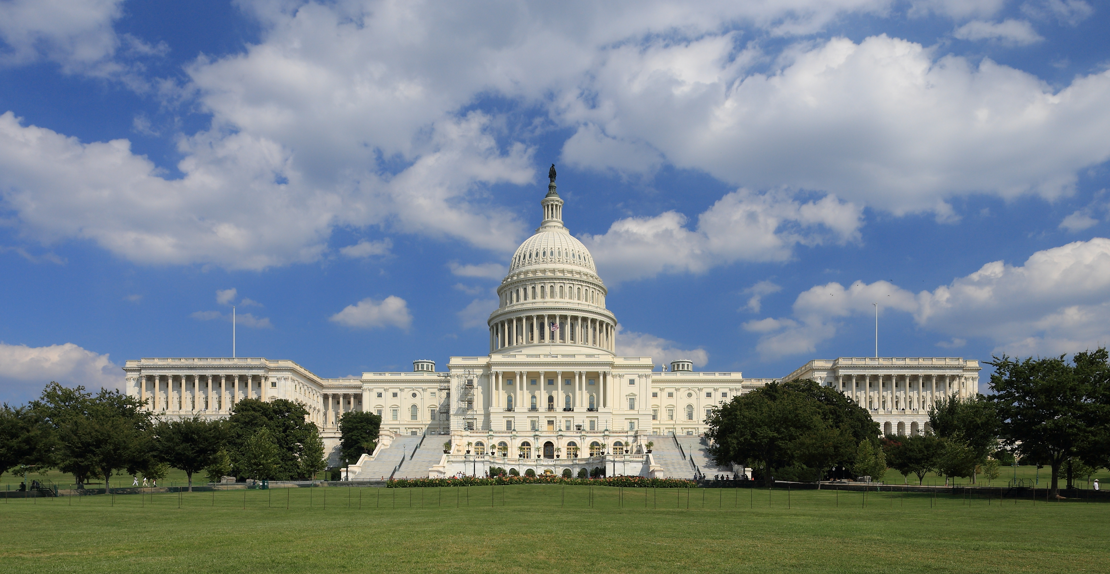The U.S. Capitol building houses both the House of Representatives and the Senate. It is an example of neoclassical style and is one of the most recognizable buildings in the world.