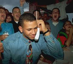 Alex Rodriguez getting the call of being drafted