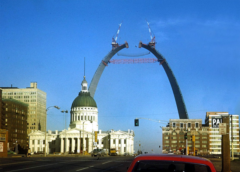 Old Courthouse & The Arch, 1965