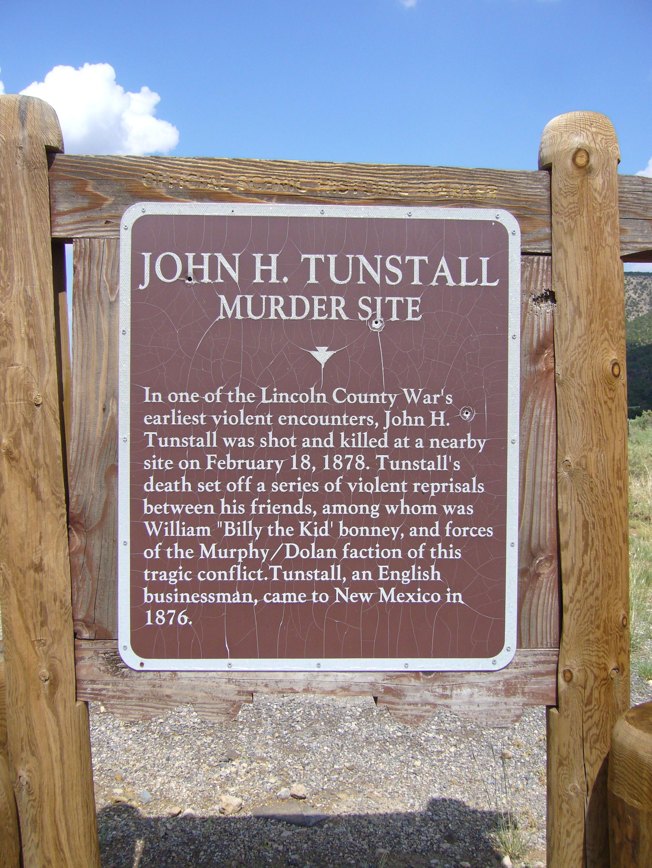 John Tunstall Murder Site