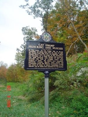 Cat Swamp Hijacking Murder Marker