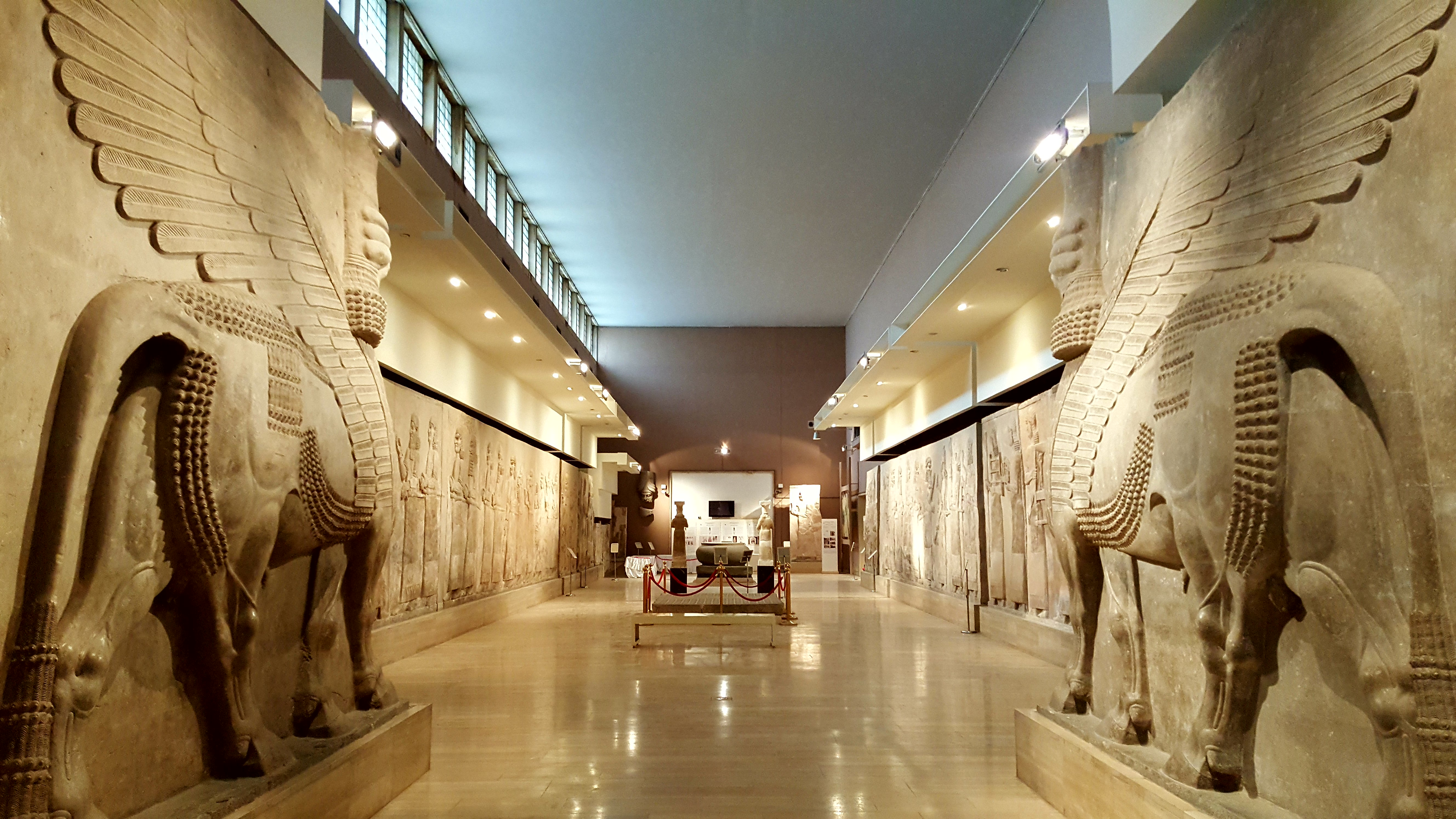 Inside hall in the Iraq Museum