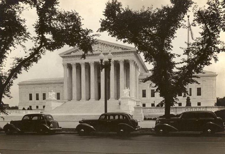 The Supreme Court in 1935, the year of its completion. It heard its first cases that fall.