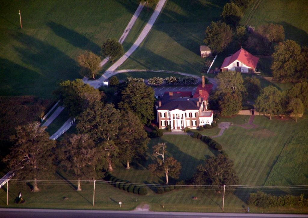 Overhead photo of the plantation grounds.