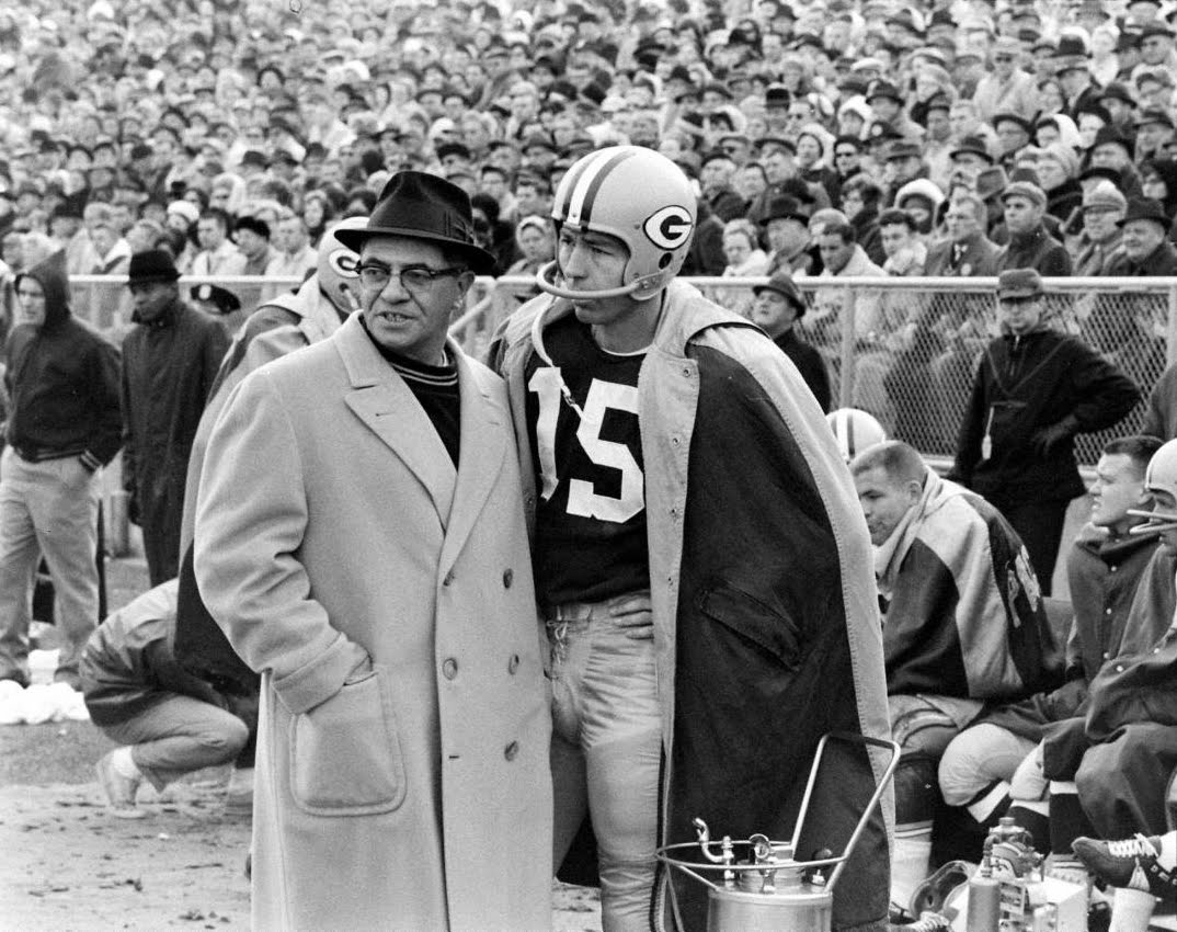 Coach Vince Lombardi and Quarterback Bart Starr
