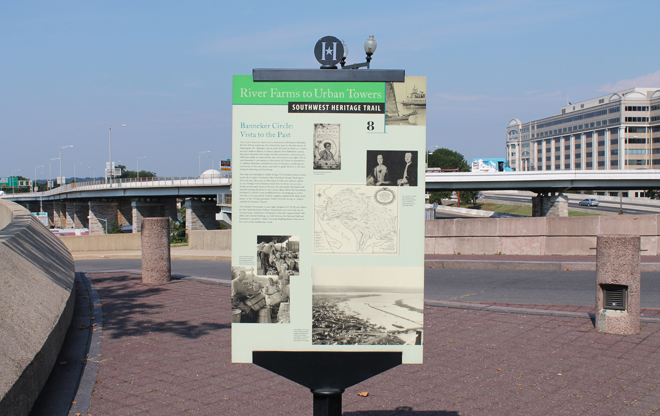 The park includes several historical markers that share the history of Banneker's life and his work with Major Andrew Ellicot.