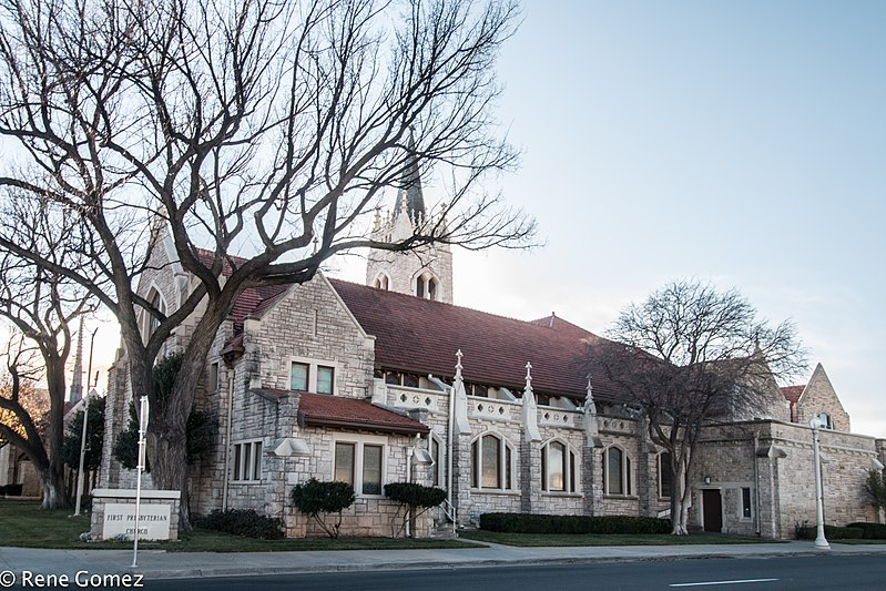 First Presbyterian Church was built in 1926 and is a good example of Gothic Revival architecture.