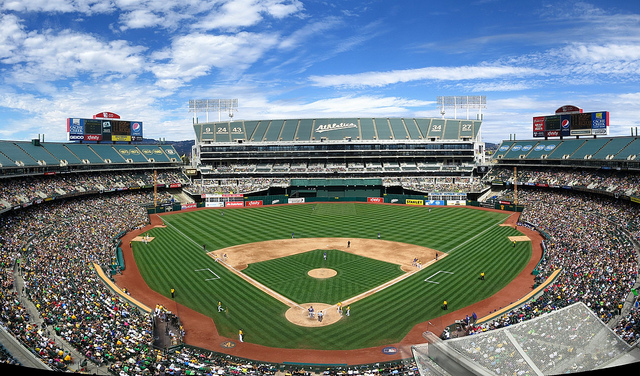 O.co Coliseum as a baseball field