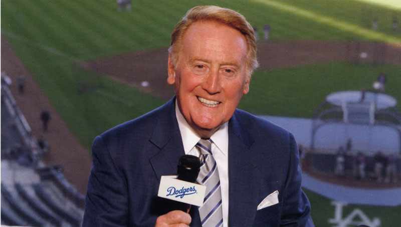 Vin Scully on the call for the Dodgers