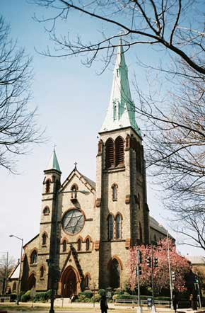 St. Dominican's church has been led by friars who served in the Civil War. Although few members live near the urban church, the congregation has grown throughout the past century of change.