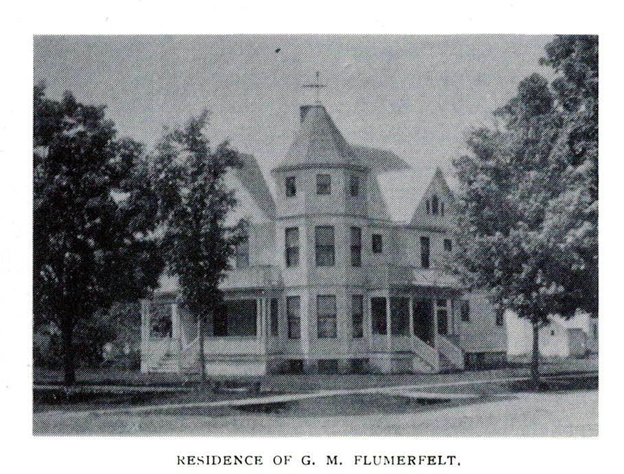 George M. Flumerfelt House, east and north elevations, ca. 1907