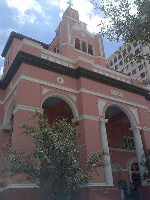Gesu Catholic Church, where the marker is located