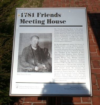 Friends Meeting Place historical marker