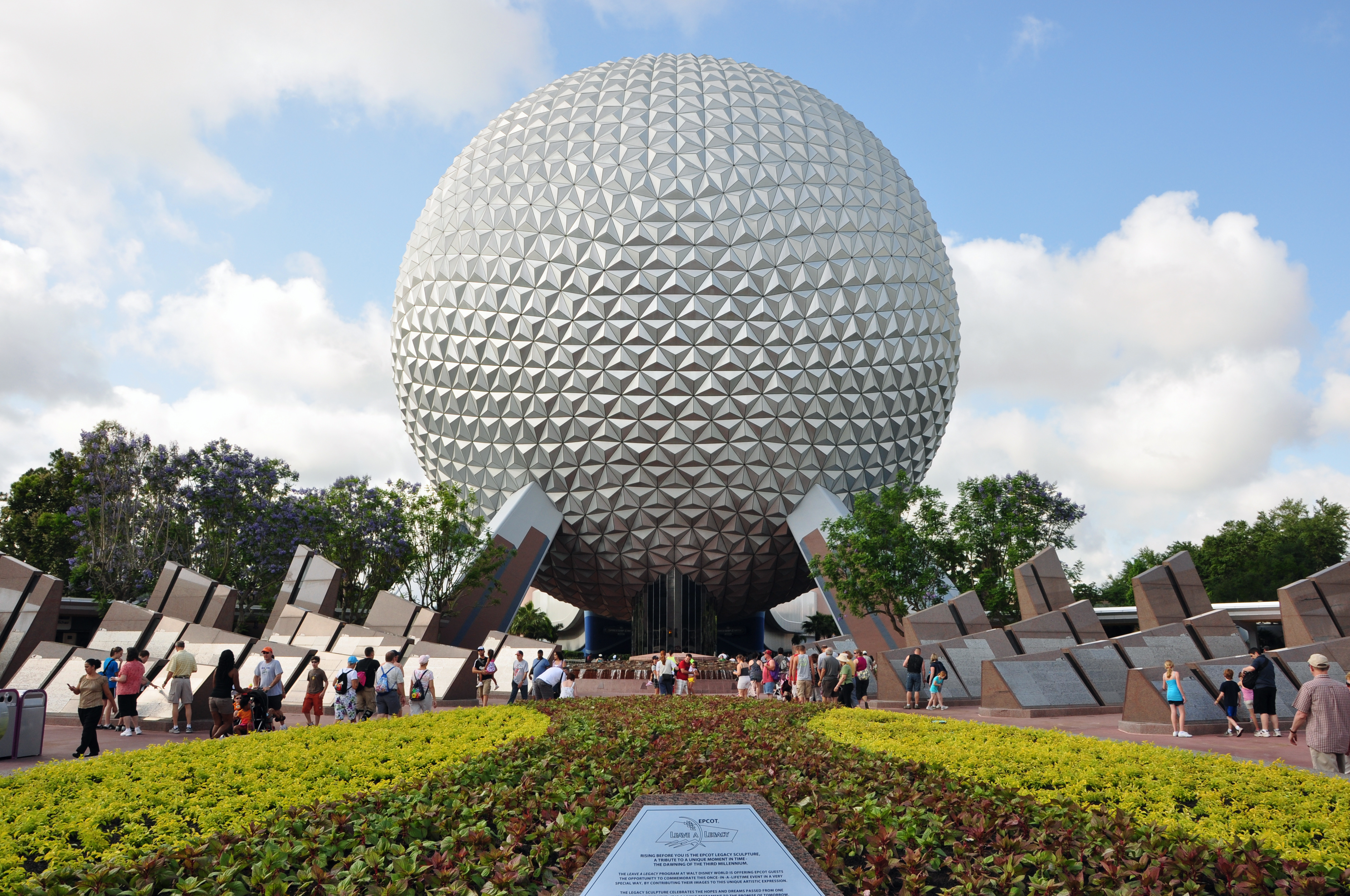 Spaceship Earth remains the central attraction of Epcot