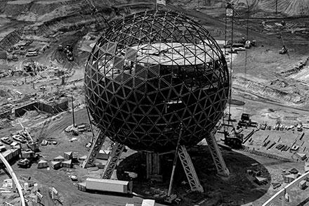Spaceship Earth under construction