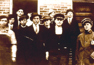 Undated photo of some students of the Academy. The boy located front, second from right was a young Harold B. Lee, future president of the LDS church.