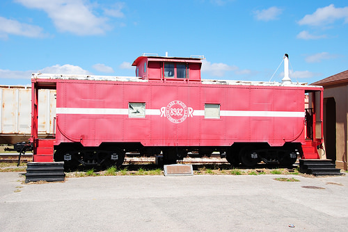 The 1928 caboose