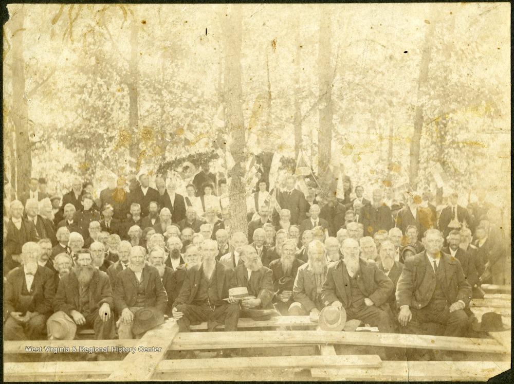 Confederate Veteran Reunion at the Foster Memorial Ceremony