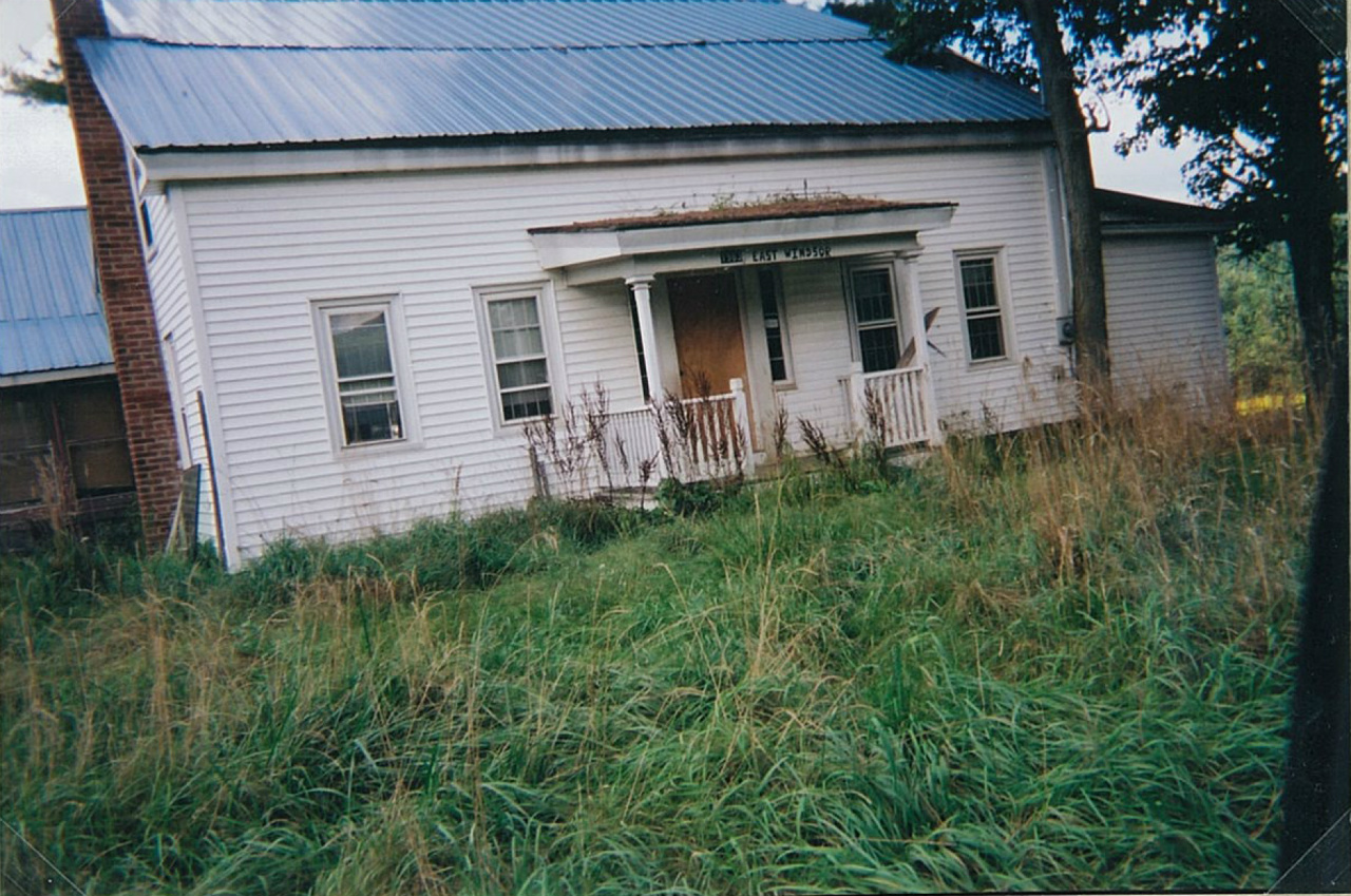 Home as it looked before restoration started. 2005.