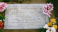 Grave of Joseph Knight Sr. in Mt. Pisgah, Iowa