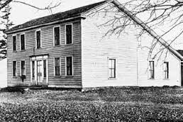 Undated black and white photo of the Squire Zacharia Tarble home in Afton. Has since then been demolished.
