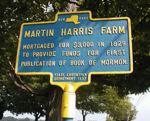 NY roadside marker to Harris Farm