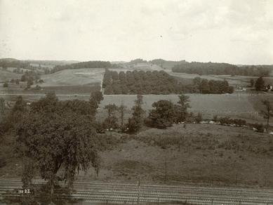 1907 photo of the land that was once Martin Harris's farm