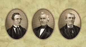 Three Witness: (L-R) Oliver Cowdery, David Whitmer and Martin Harris