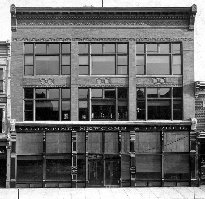 The original Valentine, Newcomb & Carder Building in the early 1900s.