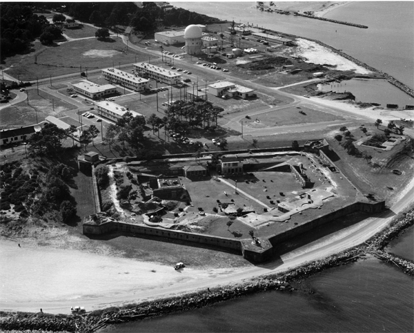 "Fort Gaines was manned by Confederate defenders during the Battle of Mobile Bay where Union Admiral Farragut issued the most famous command in US Naval history"" ""Damn the torpedoes! Full speed ahead!"""