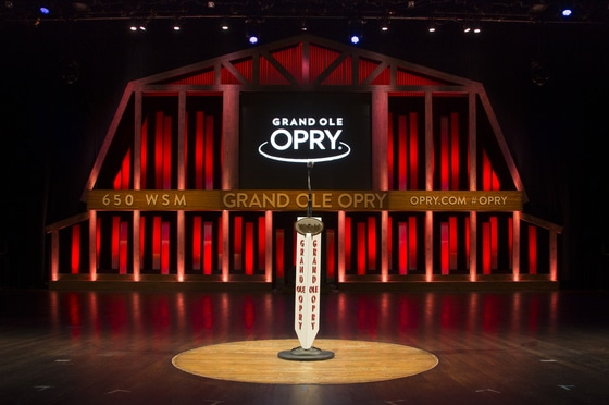 The Center Circle From the Ryman Shines on the Stage of the Grand Ole Opry