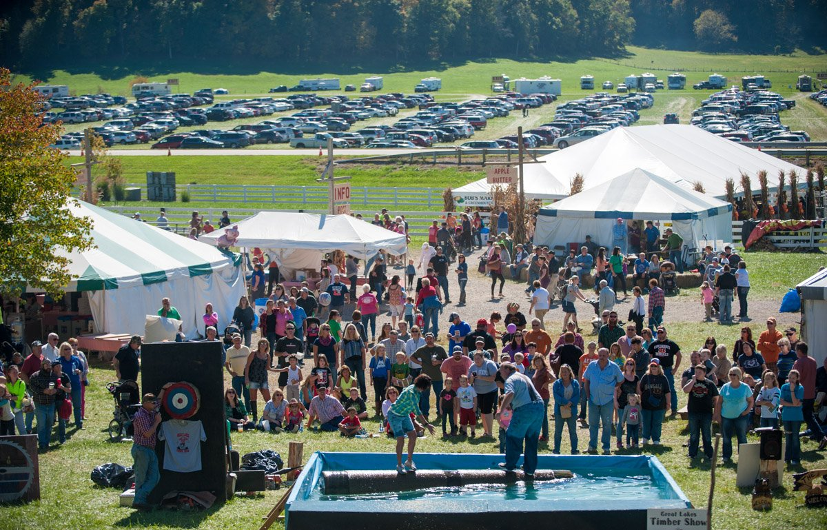 Guest Worldwide come to partake in the Bob Evans annual Farm Festival