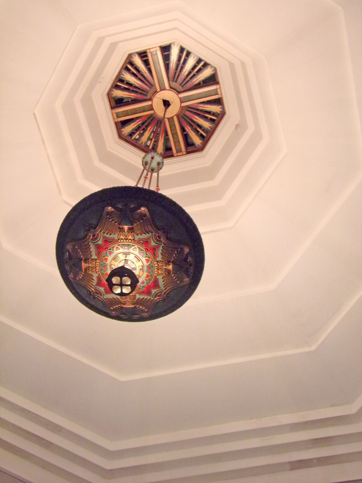 Chandelier in the temple