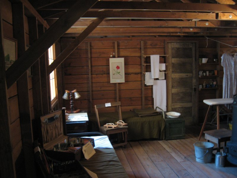 Replica of a residence within an internment camp.