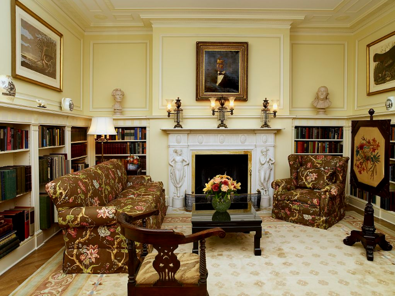 Library of the Blair House. Image by Carol M. Highsmith, via Library of Congress (public domain)