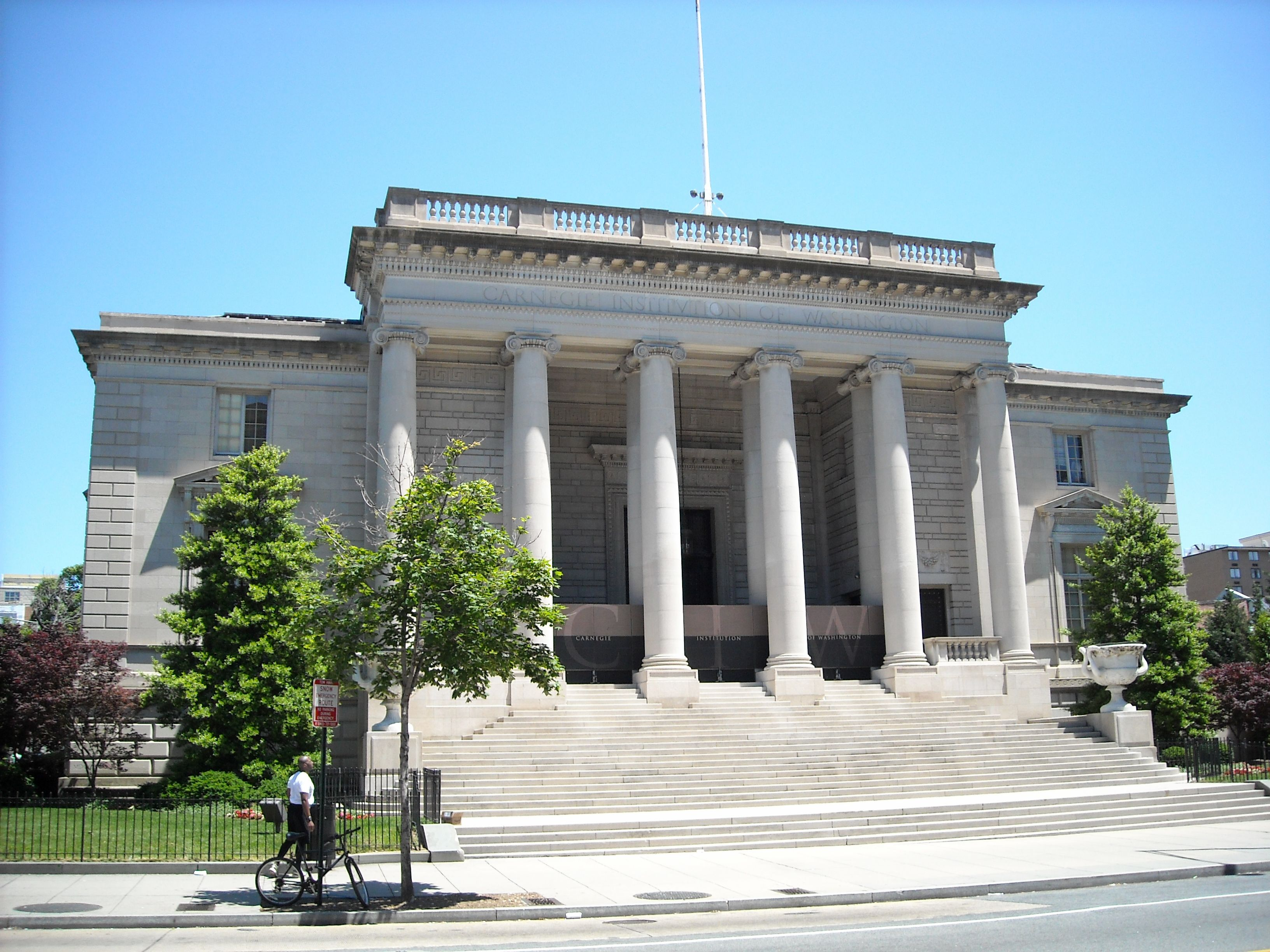 The Administration Building, Carnegie Institution of Science in Washington D.C. is a National Historic Landmark. It is home to scientific research and discovery and is a popular event venue.