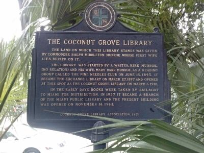 Coconut Grove Library marker