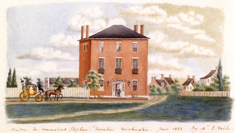 1822 drawing of the house