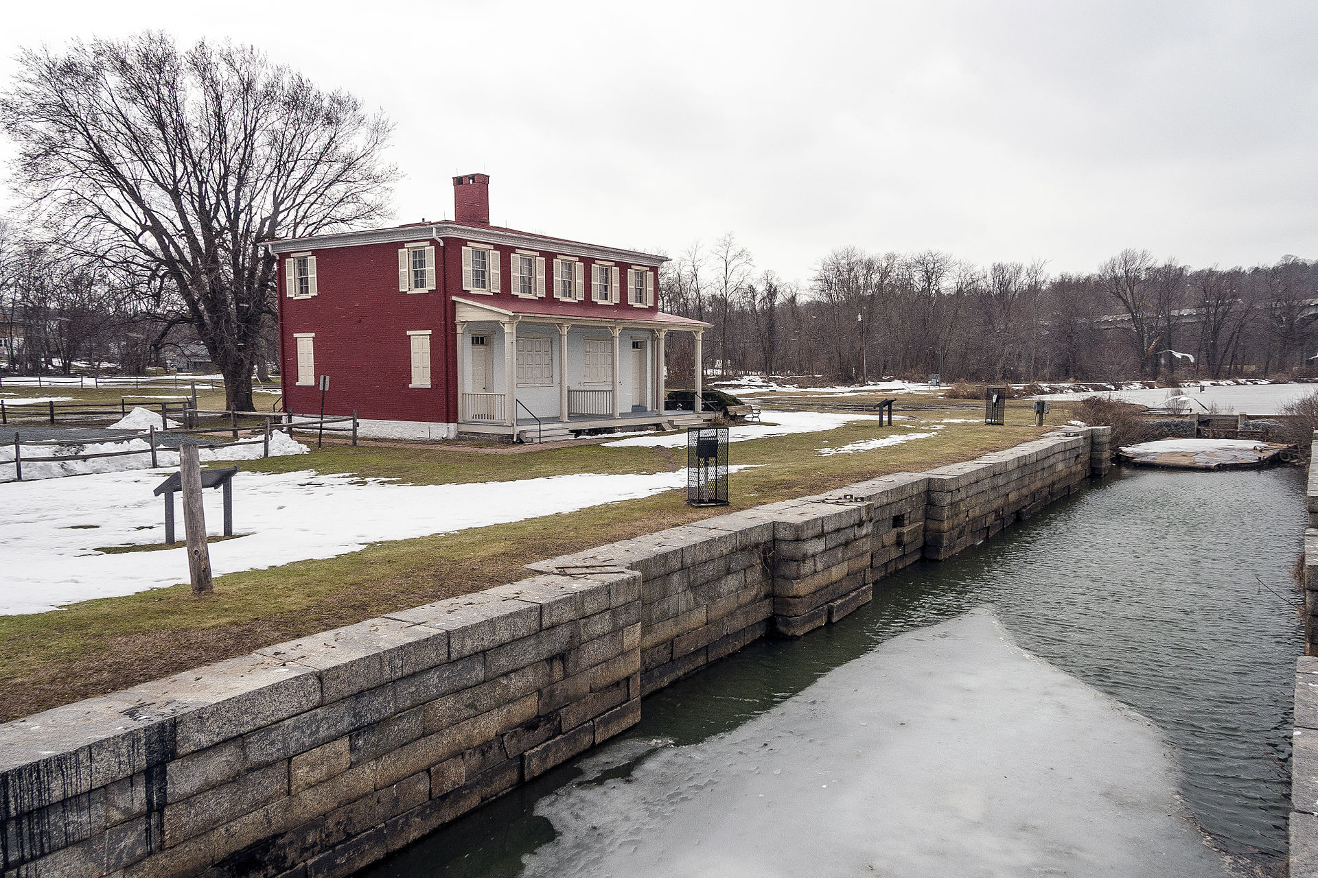 The Lock House Museum and walls of the Susquehanna canal