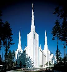 Side view of Portland temple