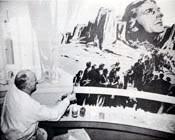Girgwire working on murals