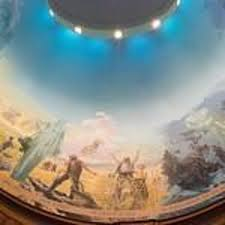 Portion of the dome as it looks today, where murals are located