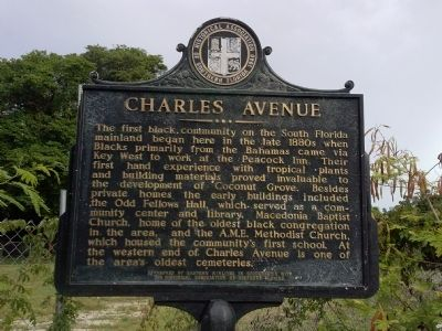 Charles Avenue Marker